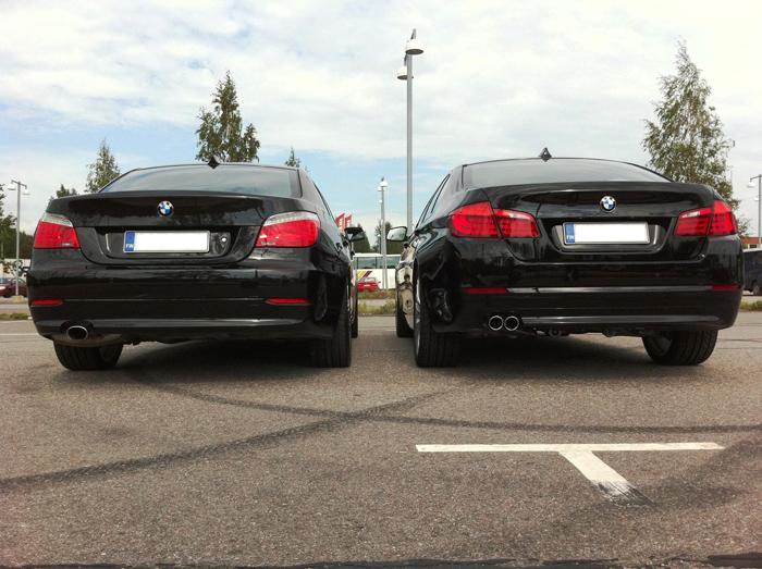 F10 versus E60 Size and Photo Comparison - 2010 2011 BMW 5 Series ...