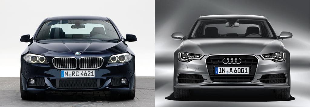 Rivals Photo Comparison Bmw F10 5 Series Vs Audi S New A6