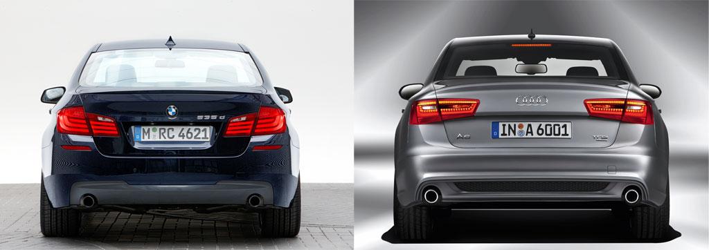 Rivals Photo Comparison BMW F10 5Series vs Audis New A6