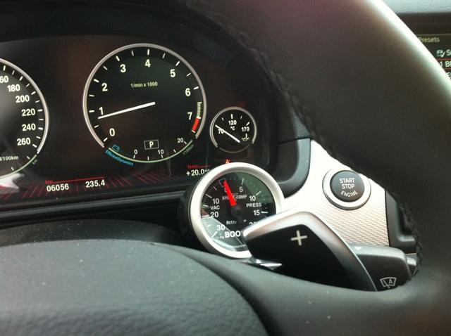 boost gauge installed