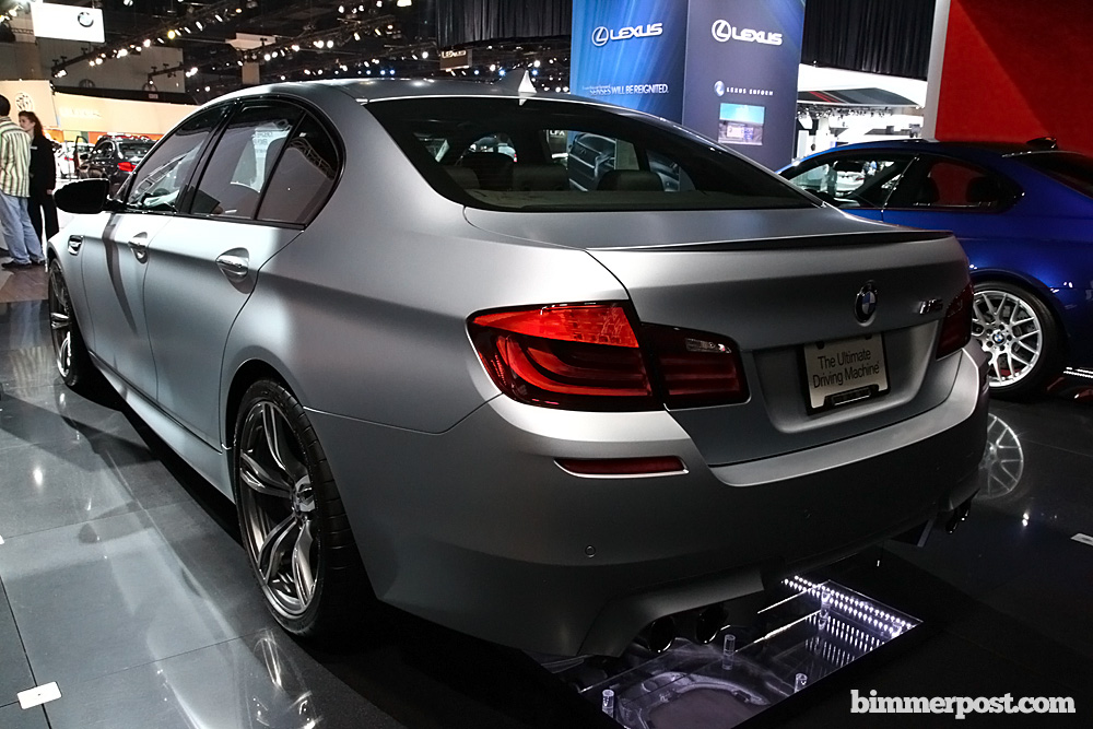 Frozen Silver M5 F10 At 2012 Canadian International Autoshow
